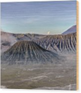 morning light Mount Bromo - Java Wood Print