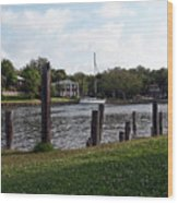 Morning On The Eau Gallie River Wood Print