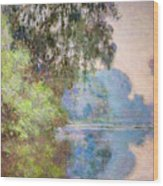 Morning On The Seine Near Giverny 1897 Wood Print