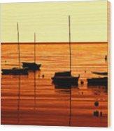 Morning Over Rockport Wood Print