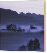 Morning Stillness Wood Print