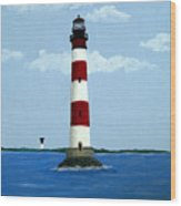 Morris Island Light Wood Print