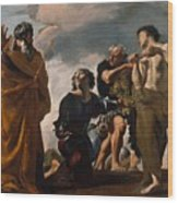 Moses And The Messengers From Canaan Wood Print