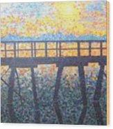 Mosiac Pier Wood Print