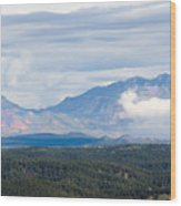 Mosquito Range Mountains In Storm Clouds Wood Print
