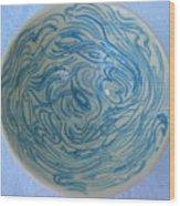 Mother-of-pearl Bowl Wood Print by Julia Van Dine