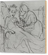 Mother With Sick Child 1878 Fig 29 9h22 6 Tg Vasily Perov Wood Print