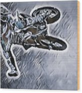 Motocross  Wood Print
