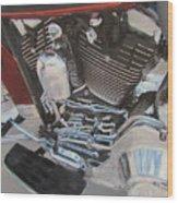 Motorcycle Close Up 1 Wood Print