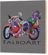 Motorcycle Mama Wood Print