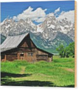 Moulton Barn Wood Print