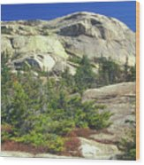 Mount Chocorua Granite Summit Wood Print