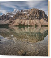 Mount Crowfoot Reflection Wood Print