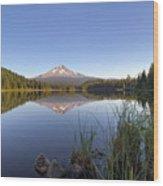 Mount Hood At Trillium Lake Wood Print