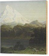 Mount Hood In Oregon Wood Print