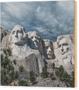 Mount Rushmore II Wood Print