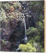 Mountain Cascade Wood Print