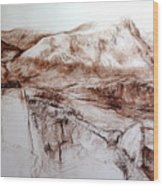 Mountains In Snowdonia Wood Print
