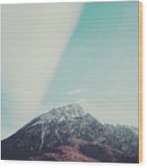 Mountains In The Background Xiii Wood Print