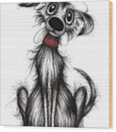 Mr Bark Wood Print