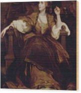 Mrs. Siddons As The Tragic Muse Wood Print