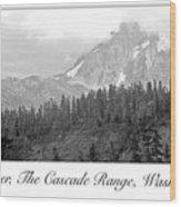 Mt. Baker, Cascade Range, Late Afternoon Wood Print