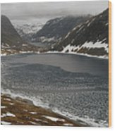 Mt. Dalsnibba And The Serpentine Descent To The Geirangerfjord Wood Print