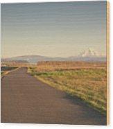 Mt Hood Sunset Wood Print