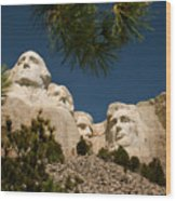 Mt Rushmore II Wood Print