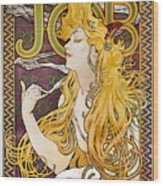 Mucha: Cigarette Papers Wood Print