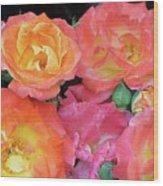 Multi-color Roses Wood Print