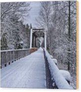 Munger Trail Bridge Wood Print
