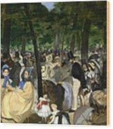 Music In The Tuileries Wood Print