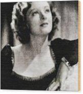 Myrna Loy, Vintage Actress Wood Print