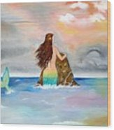 Mysteen The Mystical Queen Of The Sea Wood Print
