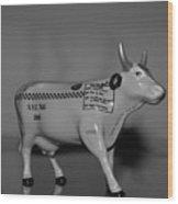 N Y C Taxi Cow Wood Print