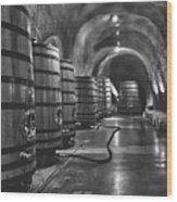 Napa Valley Wine Cellar Wood Print