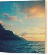 Napali Coast Wood Print