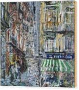 Naples Kiosk Wood Print