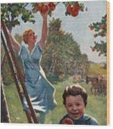 National Apple Week Wood Print