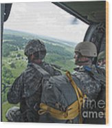 National Guard Special Forces Await Wood Print