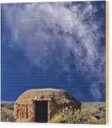 Navajo Hogan Wood Print