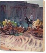 Navajo Rider Wood Print