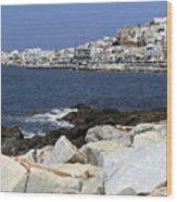 Naxos Greece Harbor Wood Print
