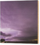 Nebraska Night Thunderstorms 009 Wood Print