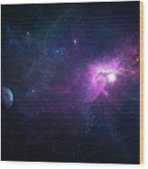Nebula Wood Print