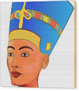 Nefertiti Wood Print