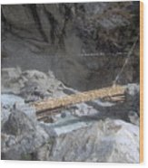 Nepal Bridge Wood Print