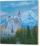 Neuschwanstein Castle In Bavaria Wood Print