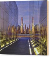 New Jersey Empty Sky 9-11 Memorial Wood Print